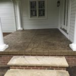 Stamped concrete porch patio Novelty Ohio 44072