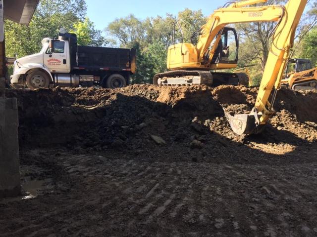 Basement foundation excavation Mentor Ohio 44060
