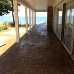 Stamped concrete porch ashlar slate pattern .Aurora Ohio
