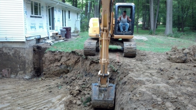 Excavation of Basement in Chagrin Falls Ohio 44022