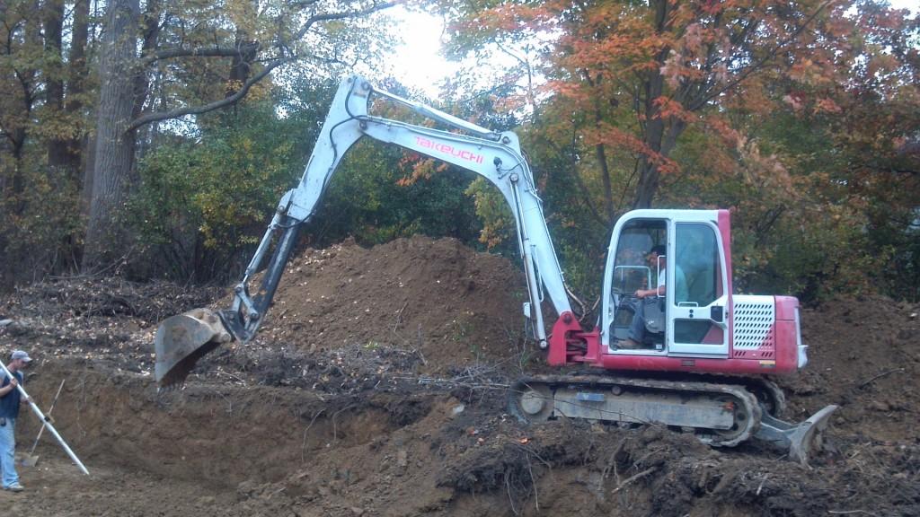 Basement foundation Excavation Novelty, Ohio