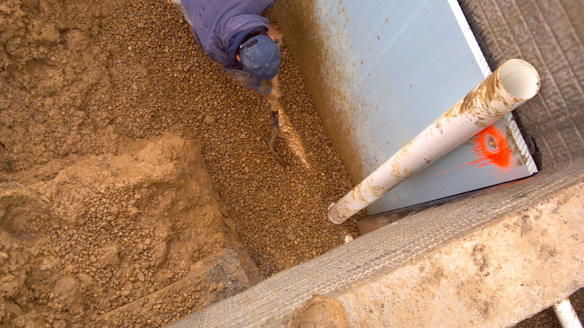 Waterproofing a new poured concrete basement foundation