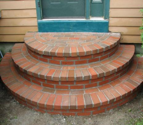 Brick Masonry step Mentor, Ohio