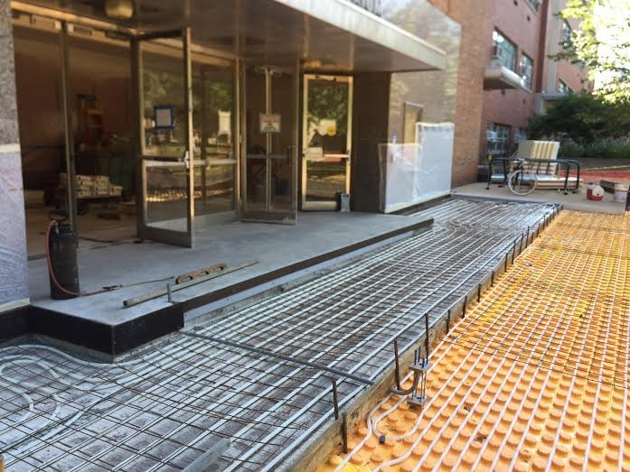 Heated Concrete entrance cleveland Commercial 44118