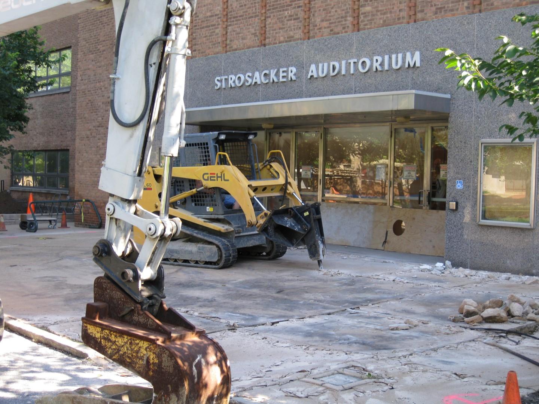 Demolition of commercial concrete area