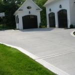 Concrete driveway Chagrin Falls, Ohio.