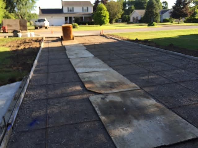 Concrete driveway replacement in Madison, Ohio