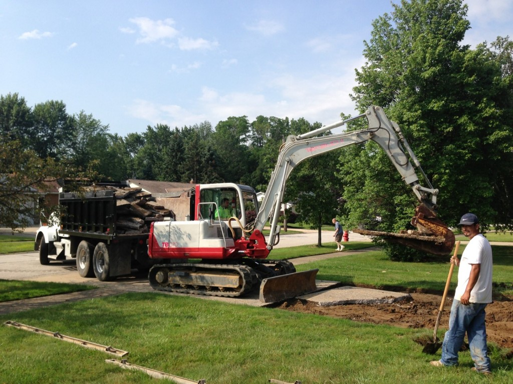 Concrete driveway replacement in Mentor, Ohio.