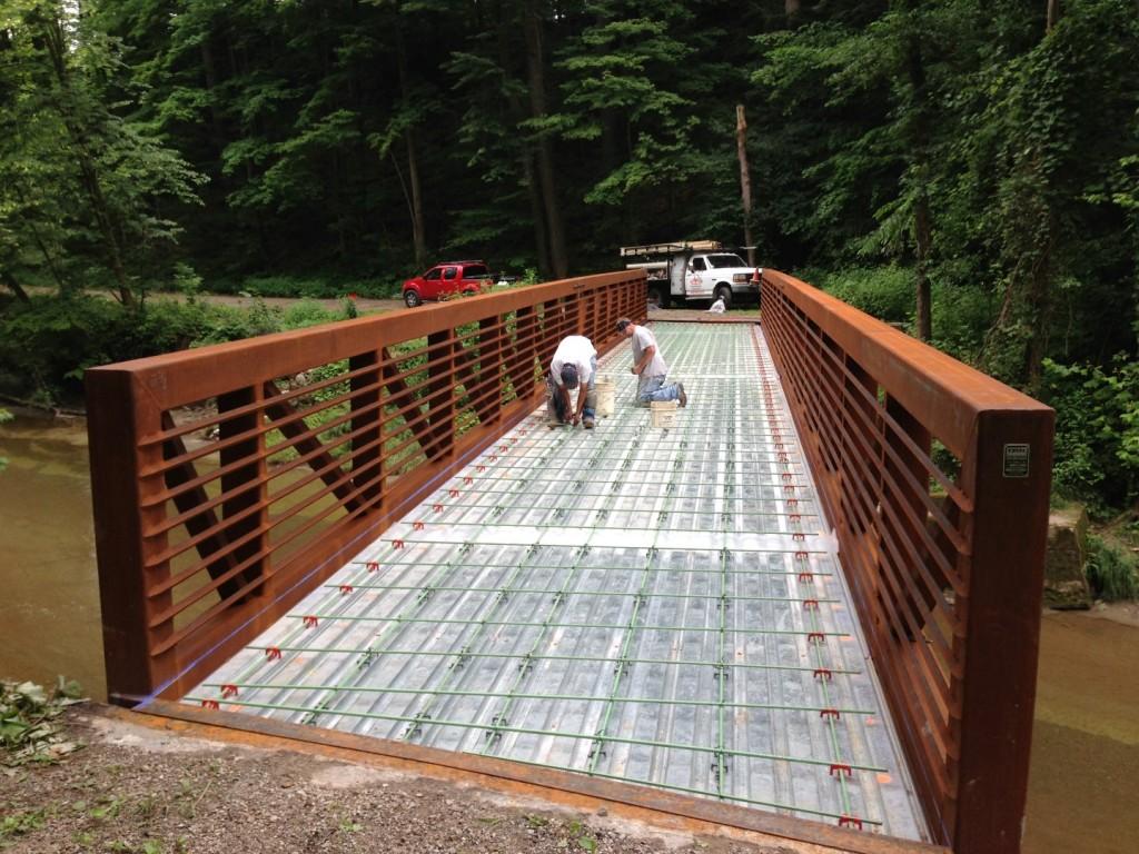 Rebar Reinforcement for a Concrete Bridge