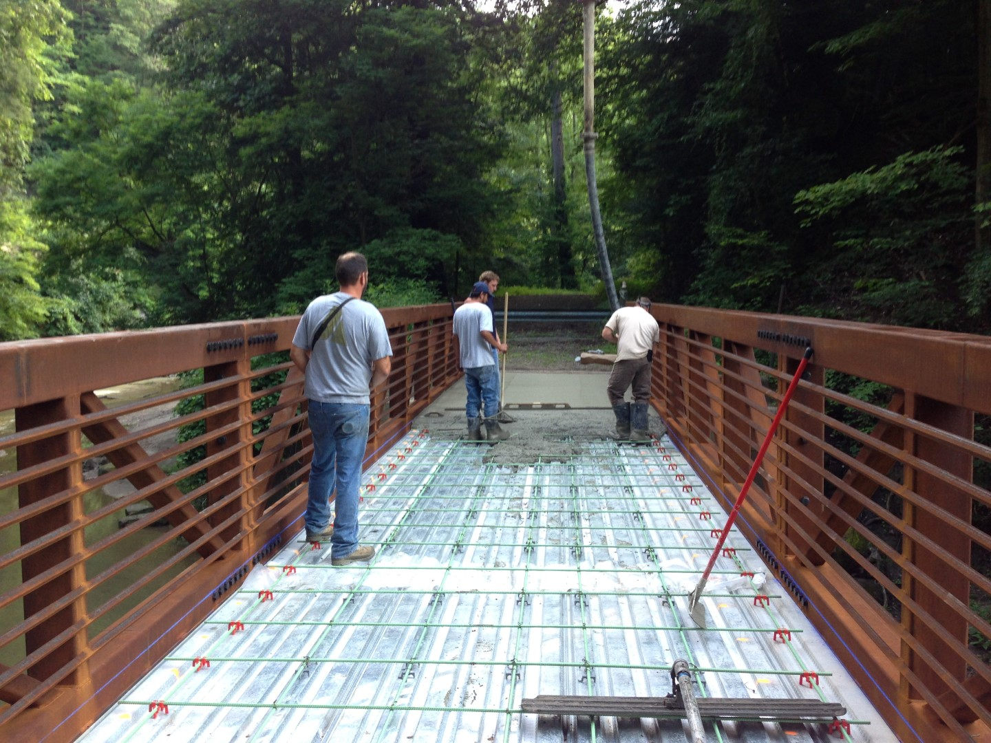 Commercial Concrete placement  Bridge Chardon ohio 44024