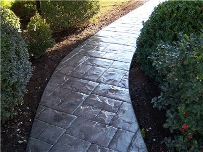 Concrete stamped walkway Chagrin Falls Ohio 44023
