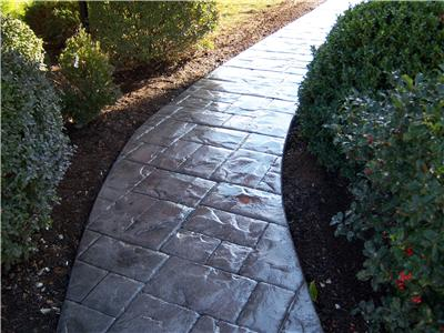 Stamped Concrete walkway Chagrin Falls Ohio 44023