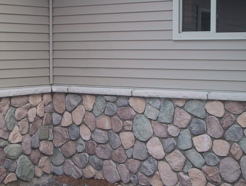Cultured stone veneer on the front of a home.