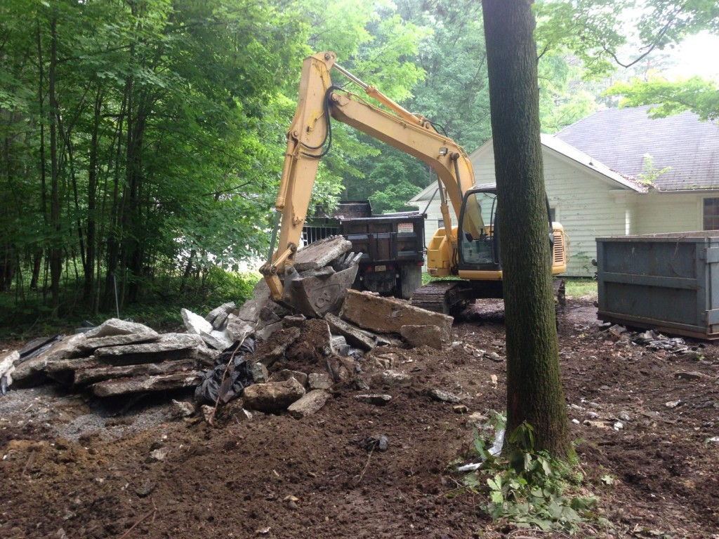 Residential home demolition
