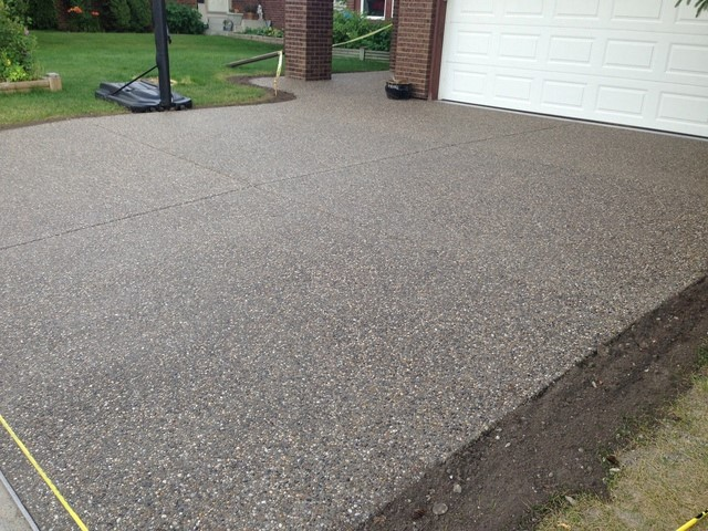 Exposed Aggregate driveway in Gates Mills Ohio 44040