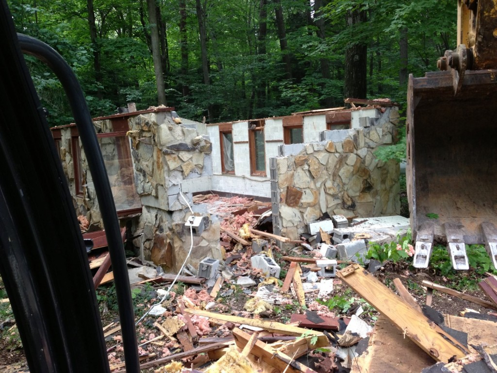 House demolition In Beachwood, OH.