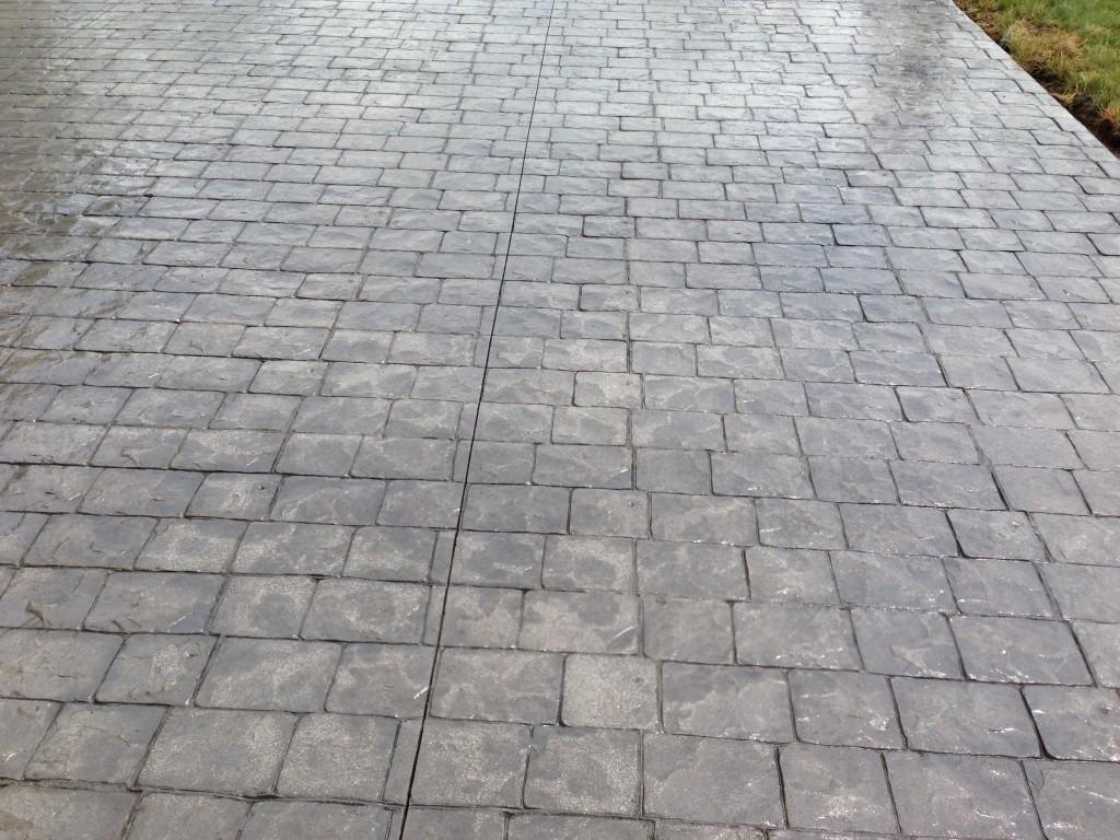 Reminderville Ohio cobblestone stamped concrete patio