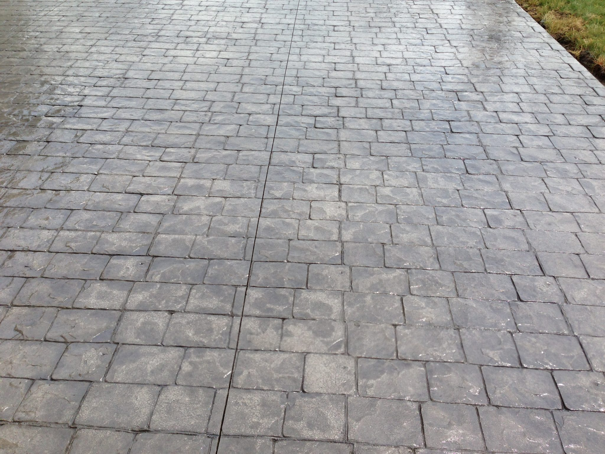 London Cobblestone stamped concrete patio Highland Heights 44143