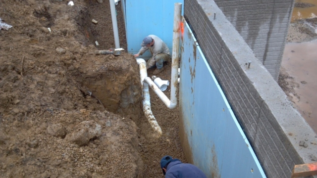 Downspout storm sewer Installation Pepper Pike Ohio 44124