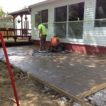 Stamped Concrete patio in Thompson Ohio 44086