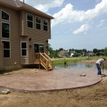 New home construction stamped concrete Mentor Ohio 44060