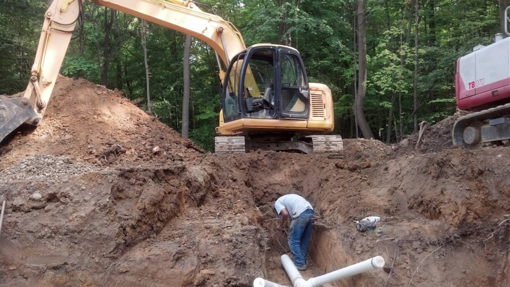 Storm sewer Installation for a new home.