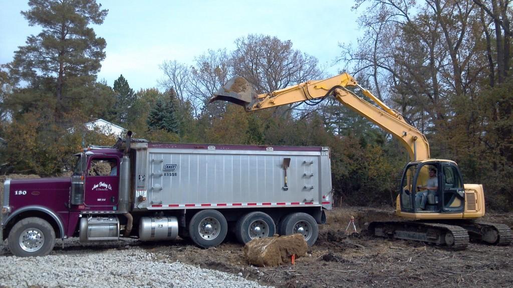 excavation contractor excavating a basement