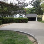 replacement cement driveway.