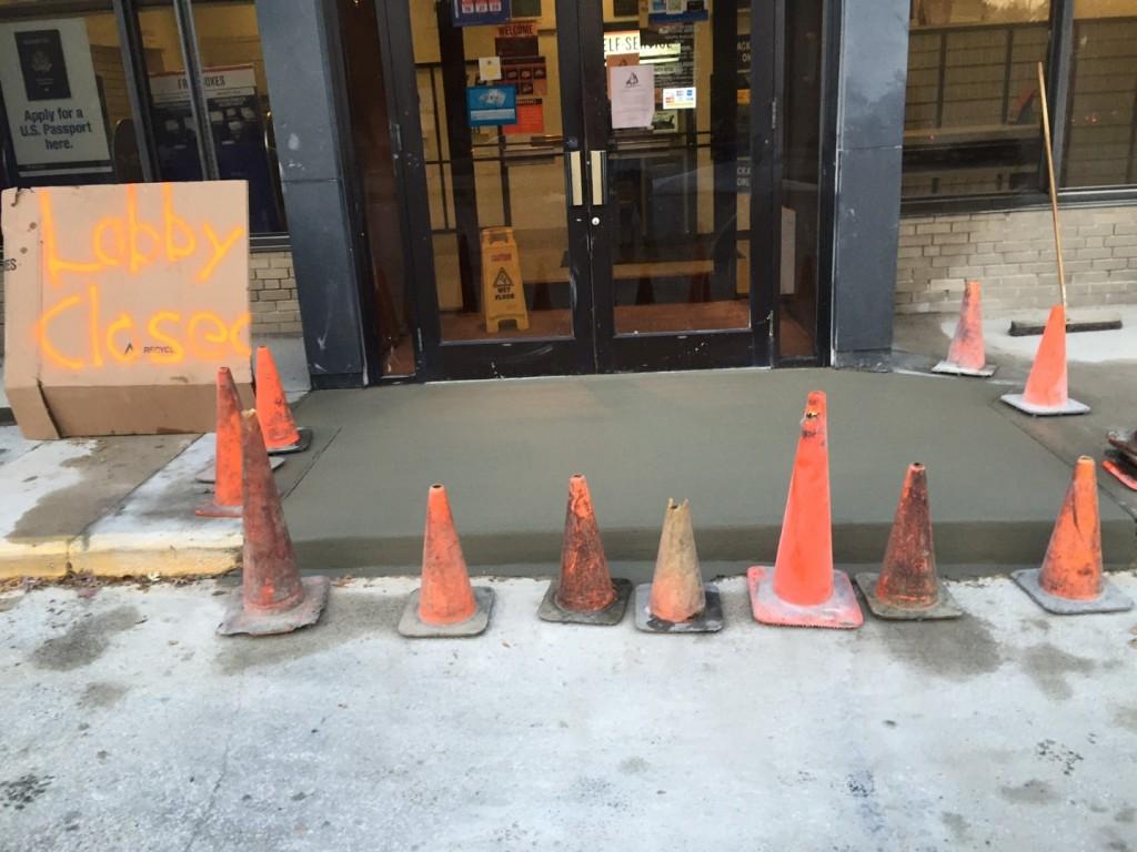 Concrete entrance