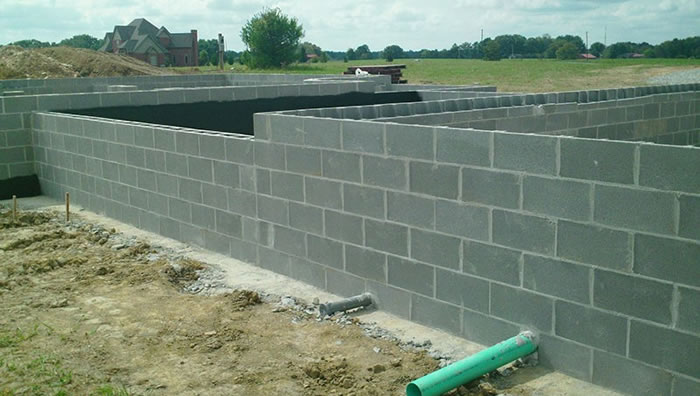 Masonry Block Foundation for a new home