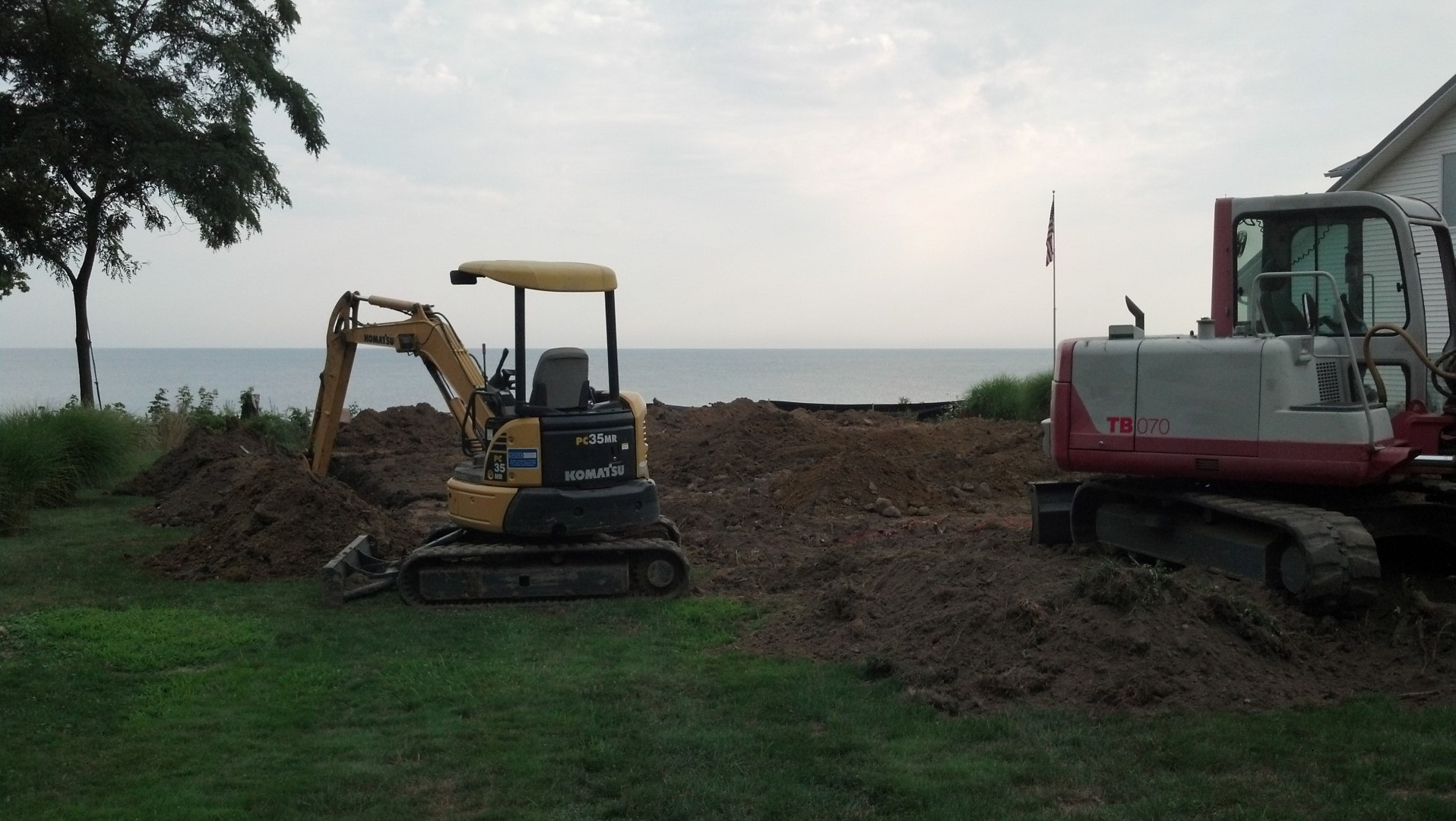 Foundation Excavation for a  New Home.