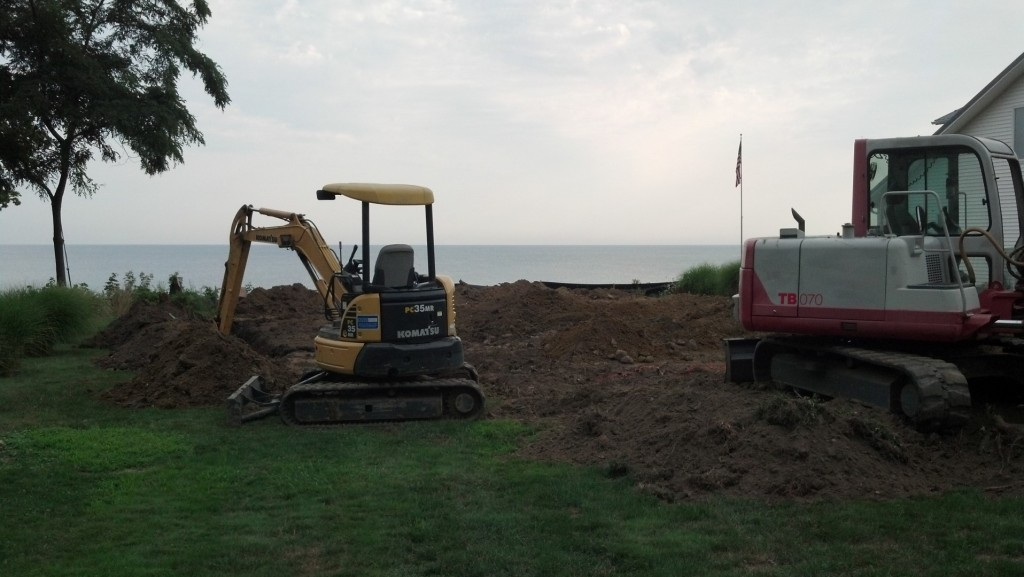 Site work for a new construction residential home.