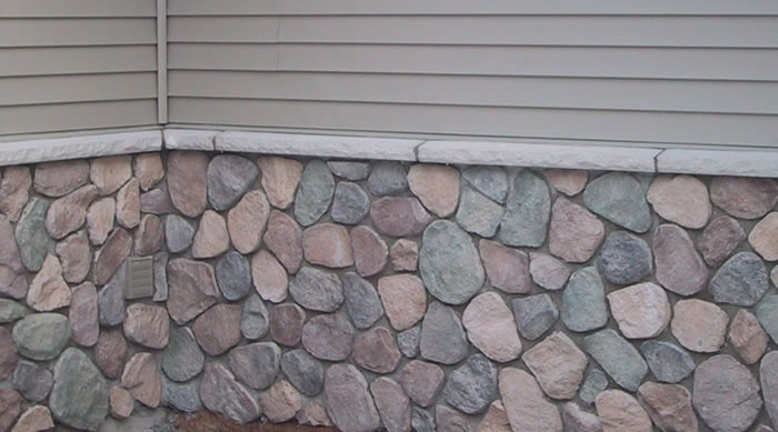 Cultured stone veneer installed by a masonry contractor