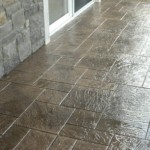 Cultured stone, Stamped concrete.
