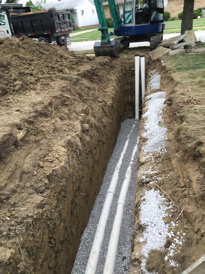 Sanitary and storm sewer replacement Eastlake Ohio 44095