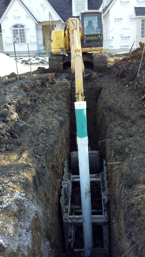 Sanitary sewer storm pipe Mentor Ohio replacement