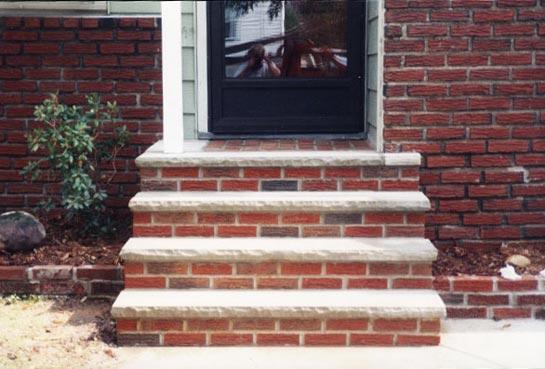 Brick masonry step porch Aurora Ohio
