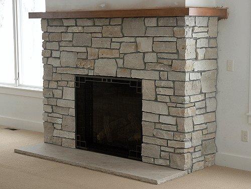 Cultured Stone fireplace Aurora Ohio Masonry