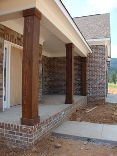 Brick masonry step porch