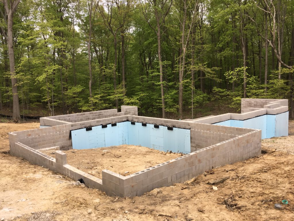 CMU foundation for home and garage