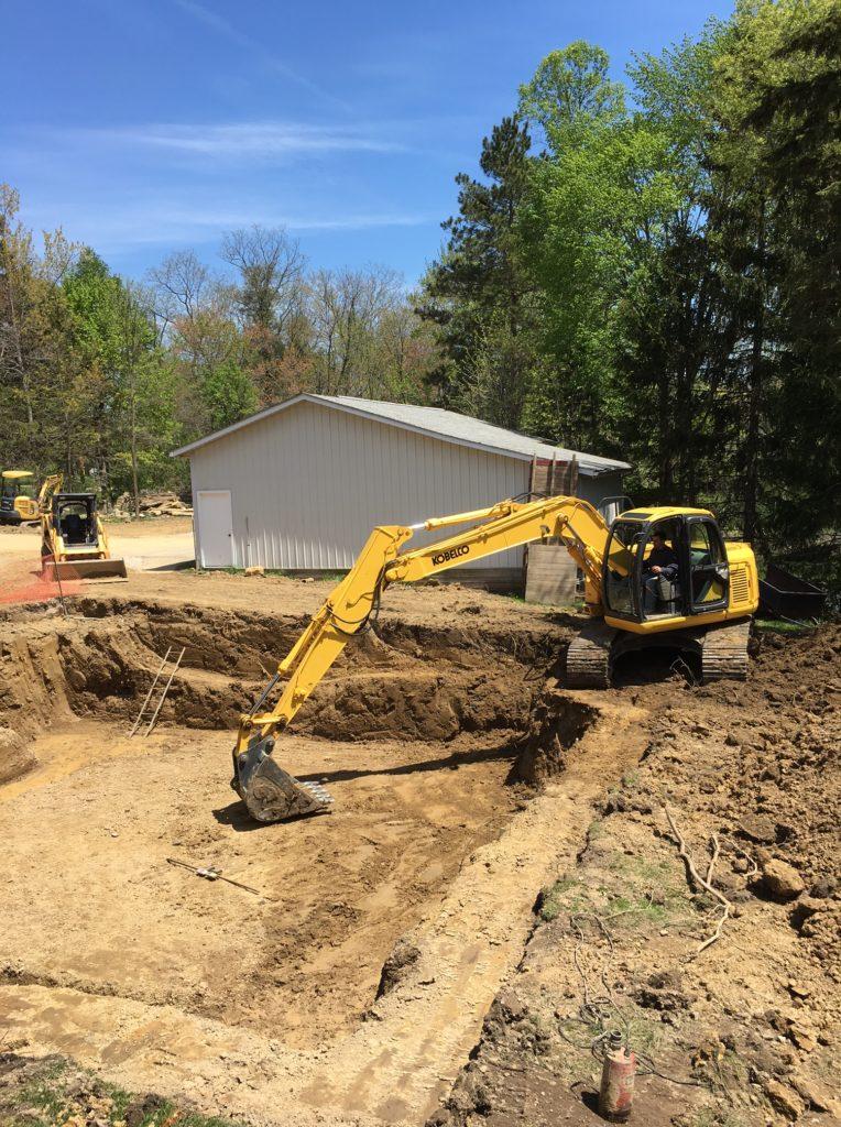 Basement excavting