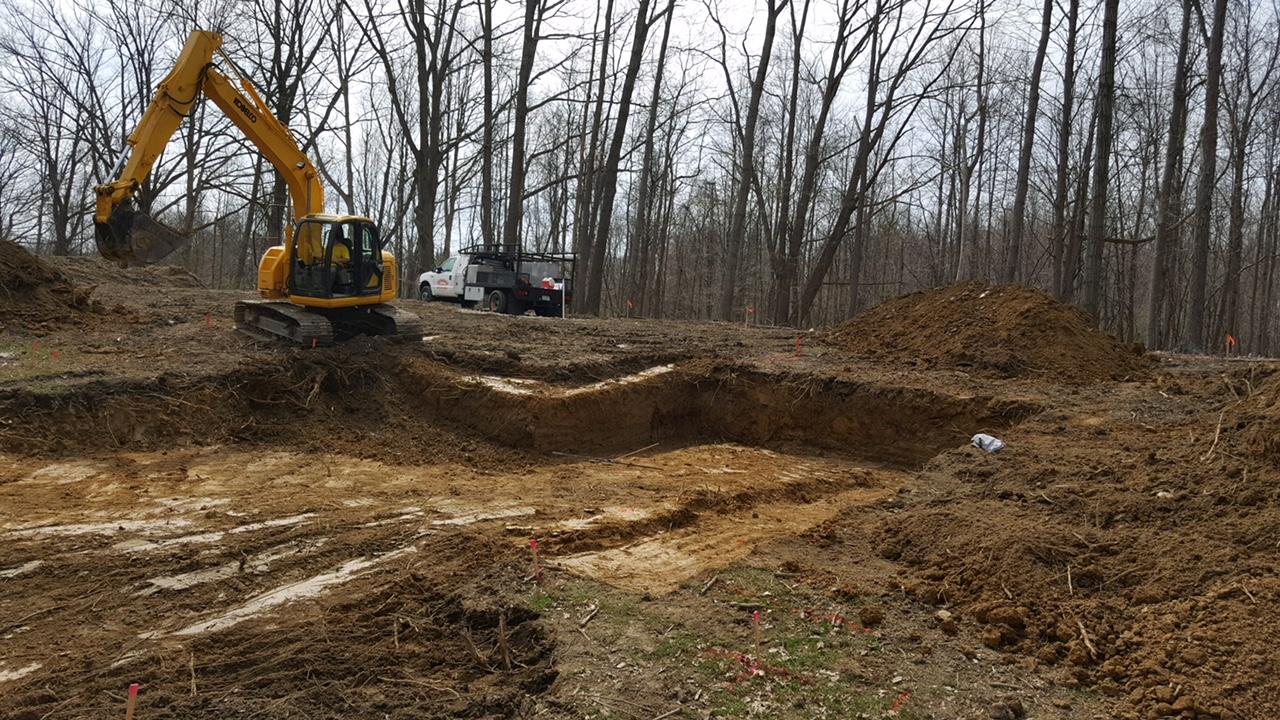 excavation of a basement