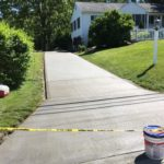 Concrete driveway placed in Bentleyville, Ohio