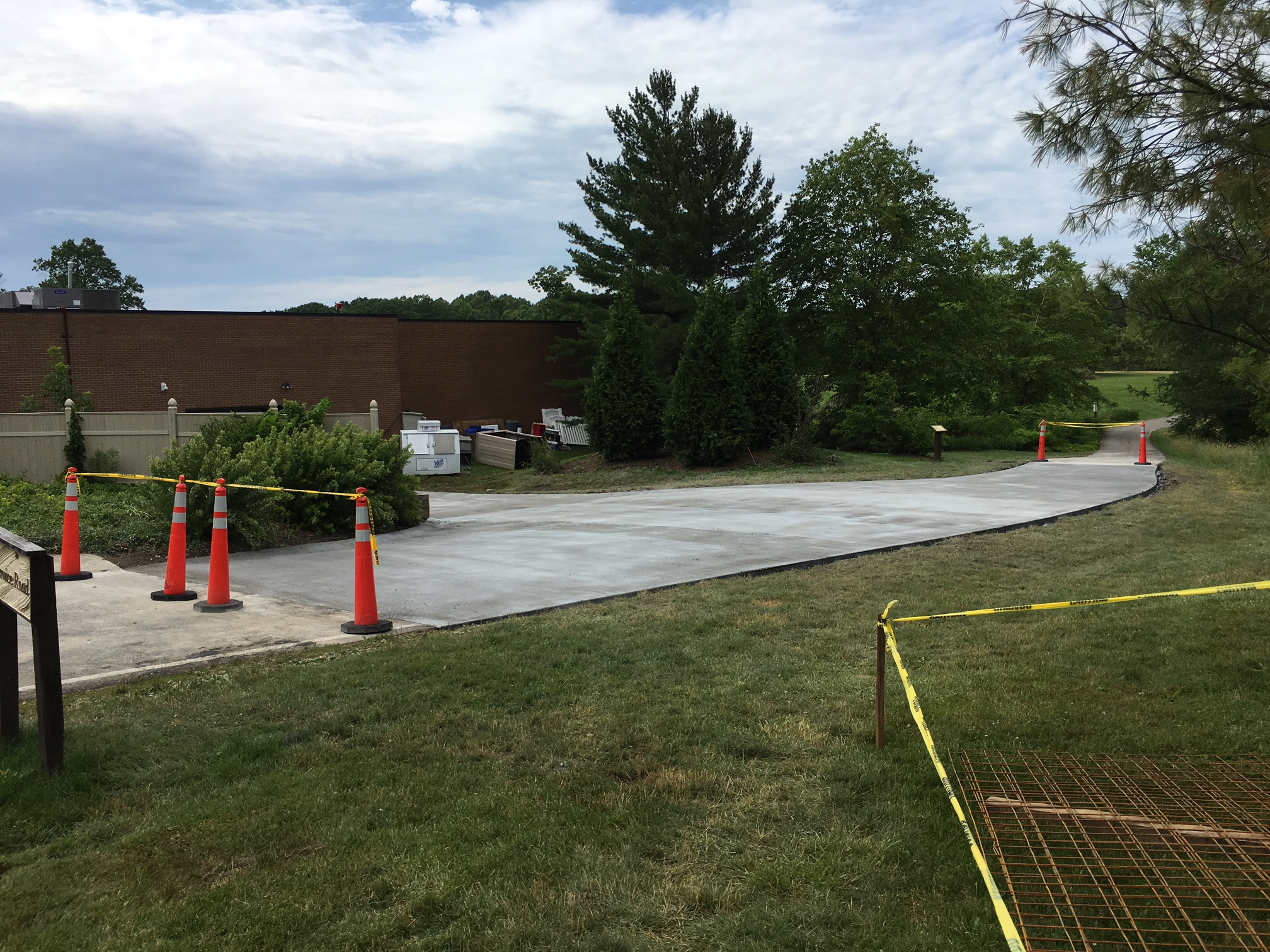 Commercial parking lot replacement at the Holden Arboretum