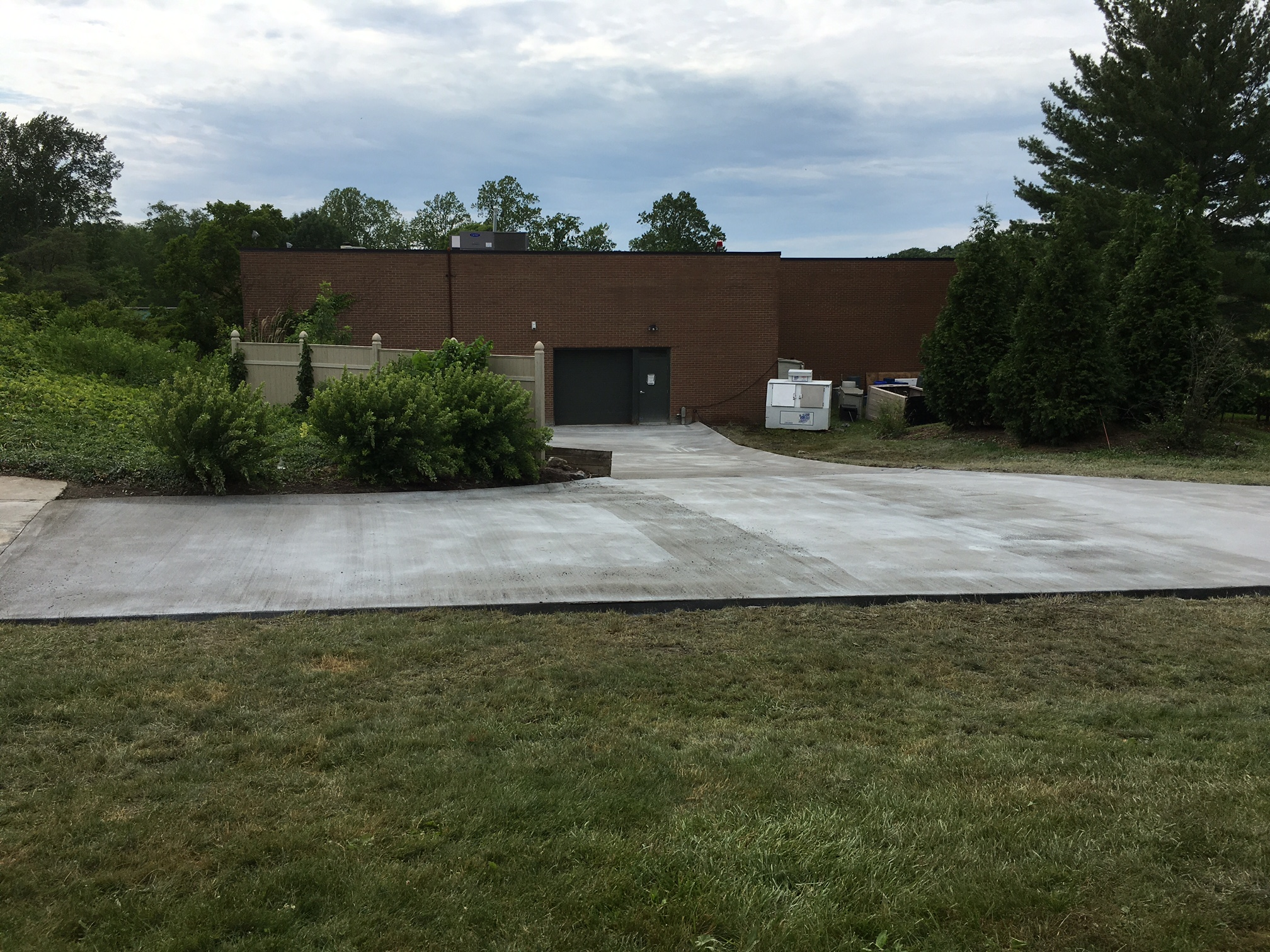 commercial concrete repair project