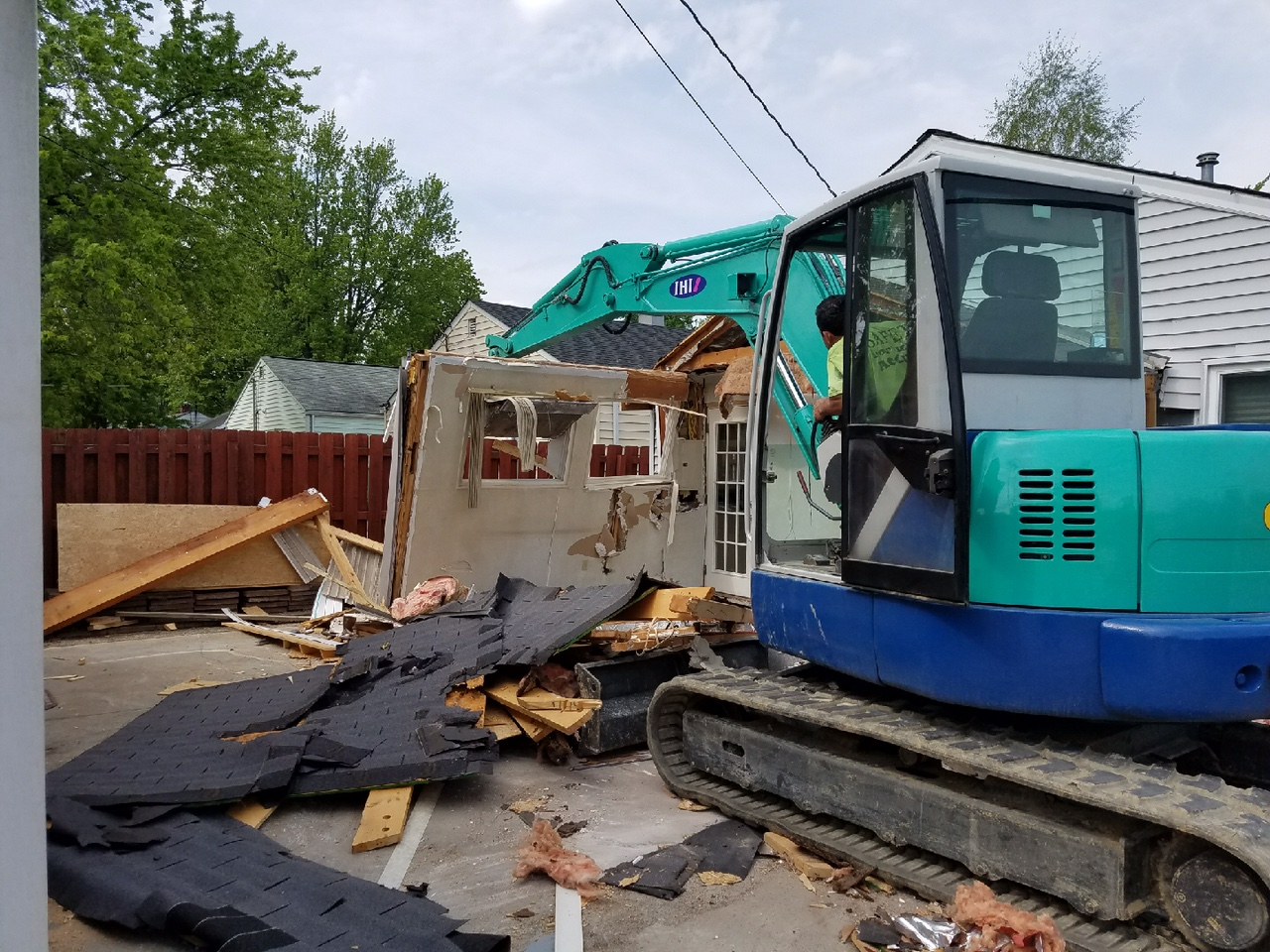 demolition of part of a home for new addition