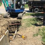 storm/sanitary sewer replaced