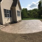 Stamped concrete patio in Chagrin Falls, Ohio