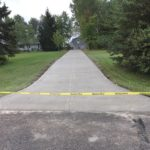 Residential concrete driveway paving