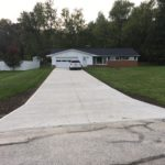 Concrete driveway replaced in Chesterland, Ohio